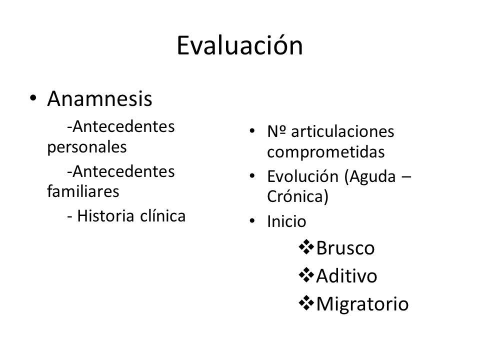 Evaluación Anamnesis Brusco Aditivo Migratorio