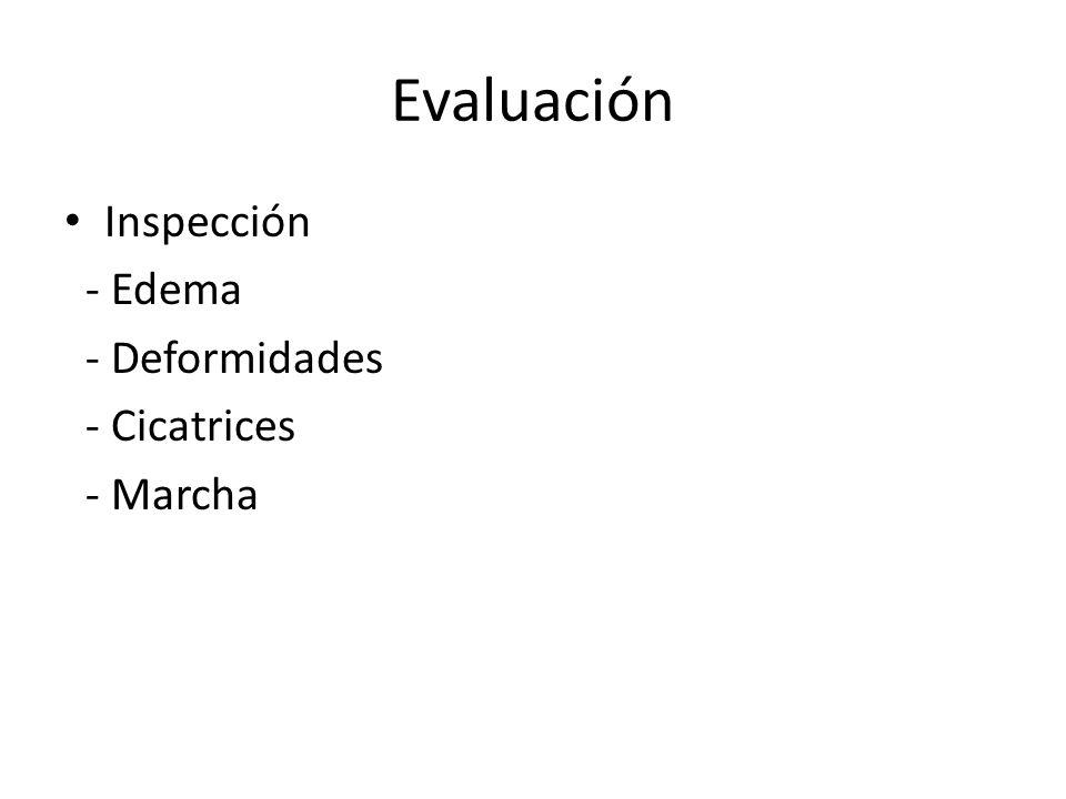Evaluación Inspección - Edema - Deformidades - Cicatrices - Marcha