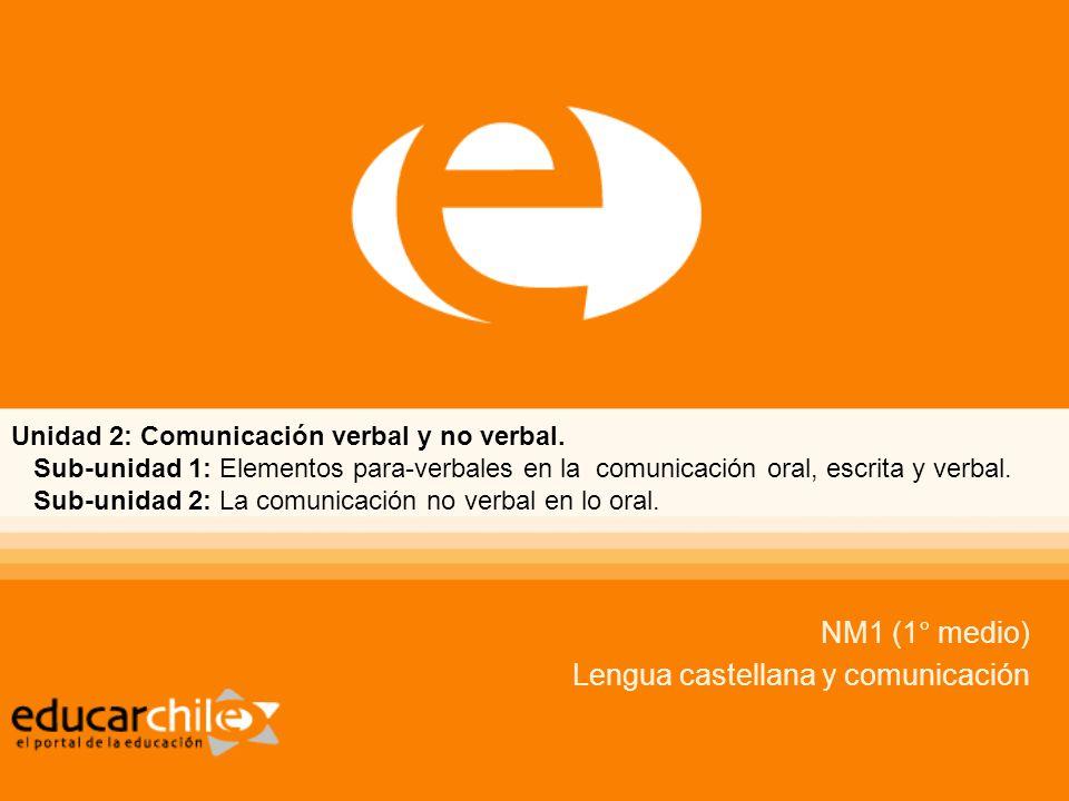 NM1 (1° medio) Lengua castellana y comunicación