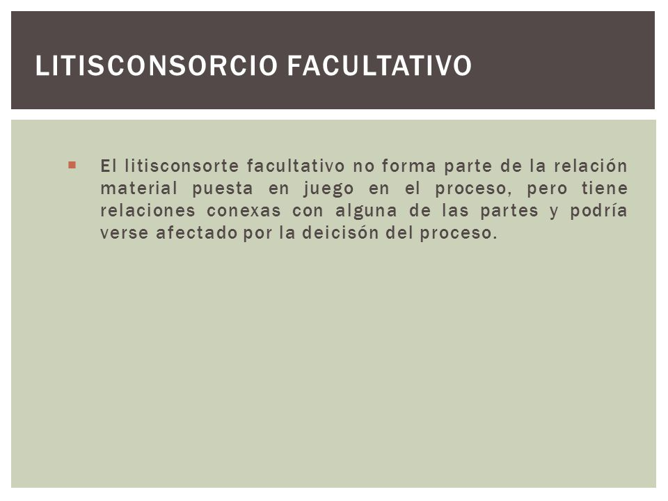 Litisconsorcio facultativo