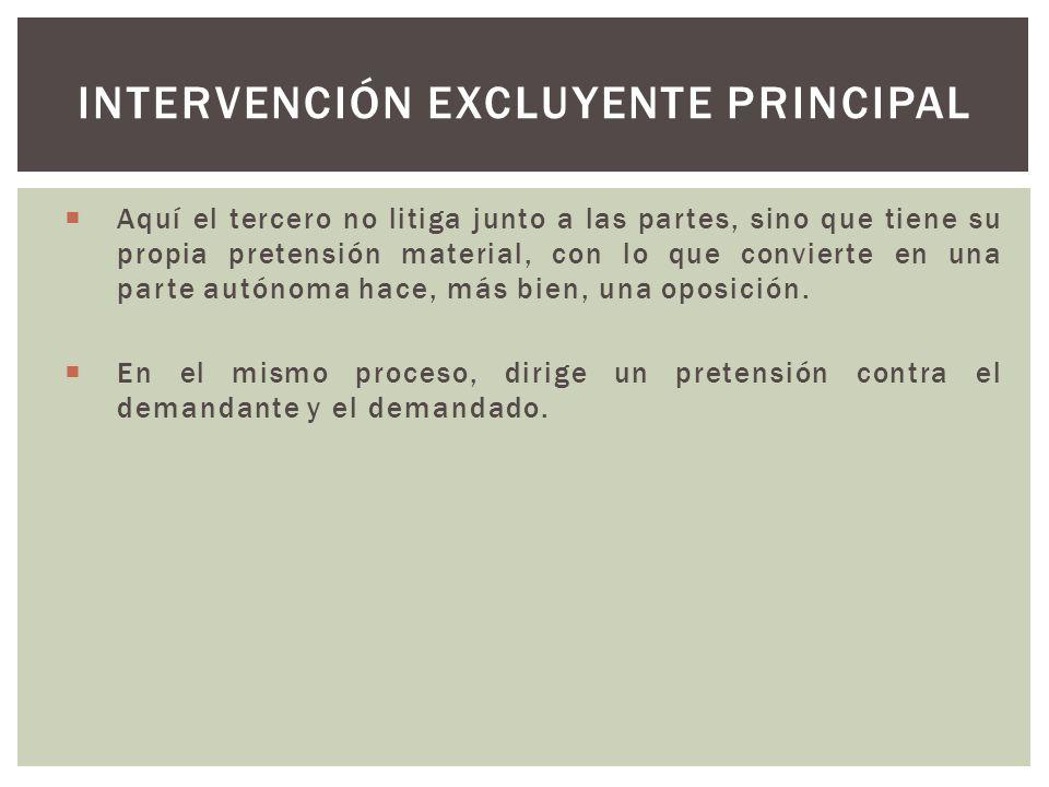 Intervención excluyente principal