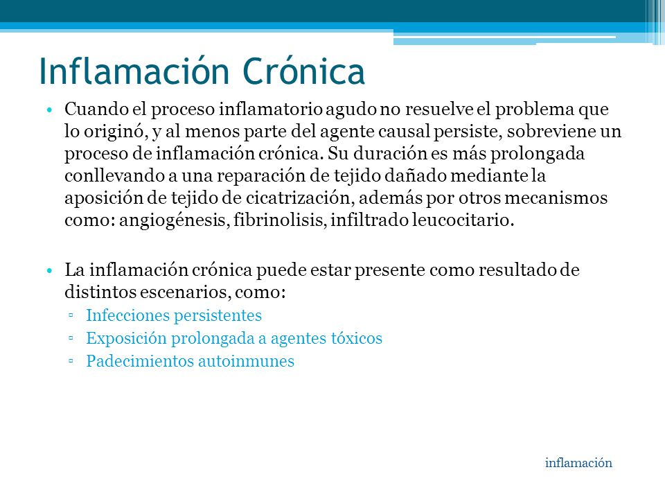 Inflamación Crónica