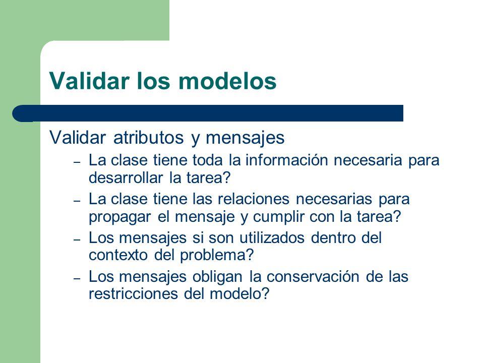 Validar los modelos Validar atributos y mensajes