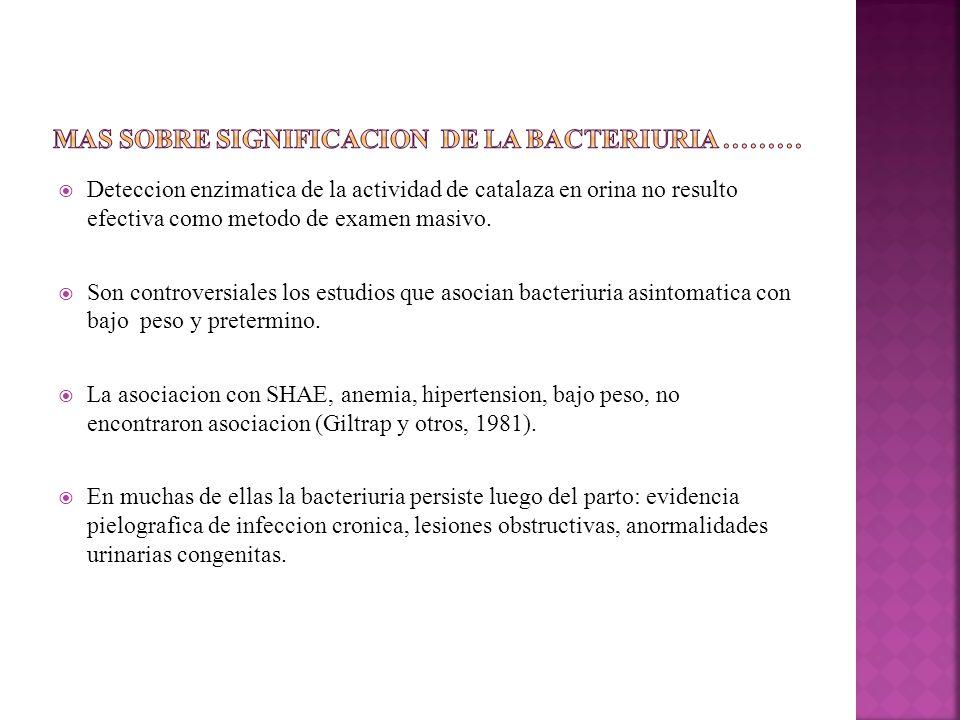 Mas sobre significacion de la bacteriuria ………