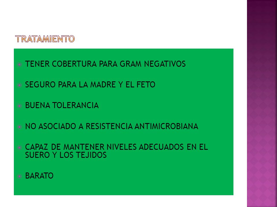 TRATAMIENTO TENER COBERTURA PARA GRAM NEGATIVOS