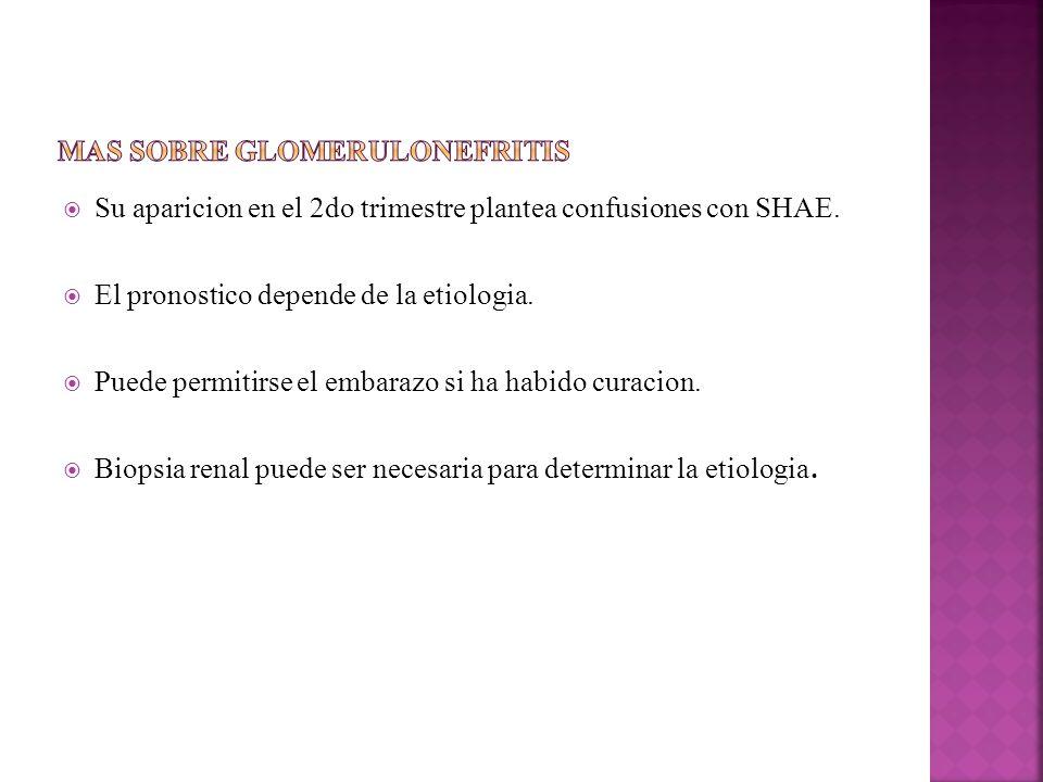 Mas sobre glomerulonefritis