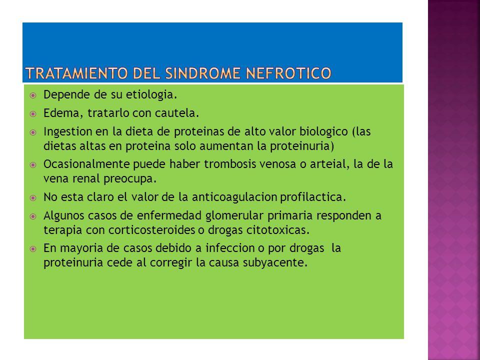 TRATAMIENTO DEL SINDROME NEFROTICO