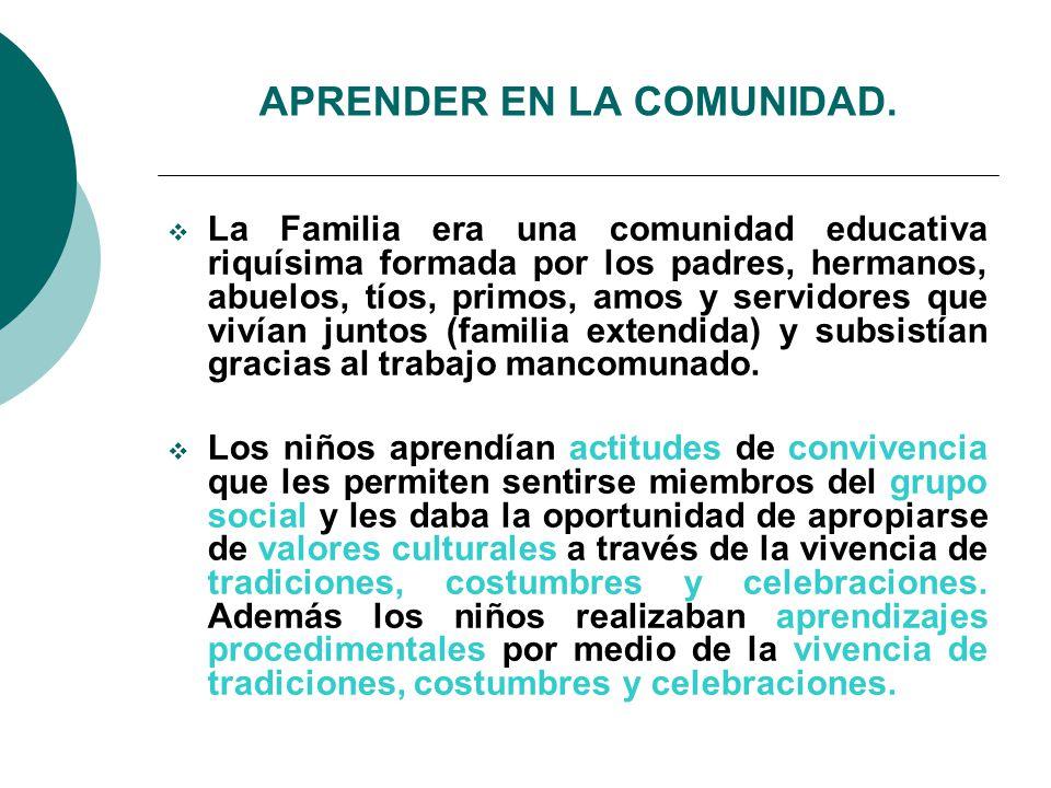 APRENDER EN LA COMUNIDAD.