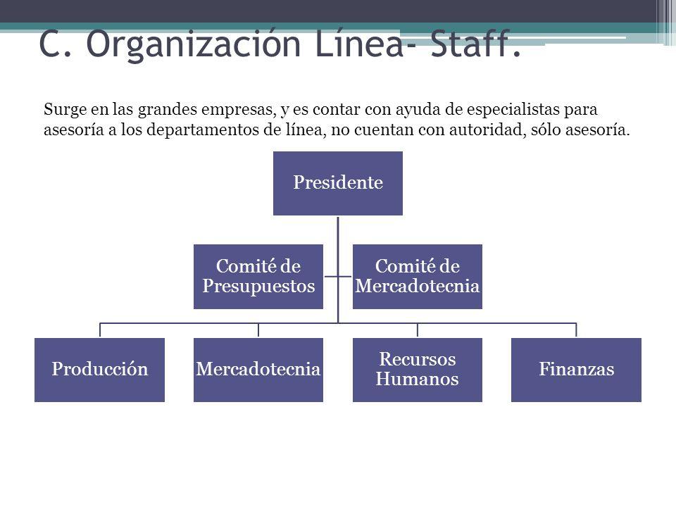 C. Organización Línea- Staff.