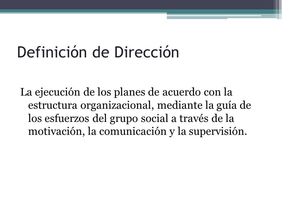 Definición de Dirección