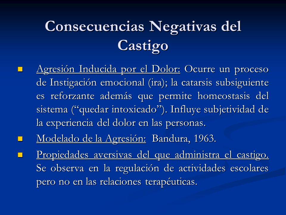 Consecuencias Negativas del Castigo