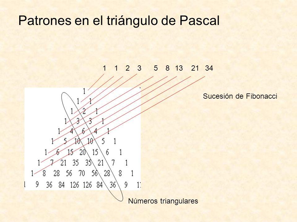 Patrones en el triángulo de Pascal
