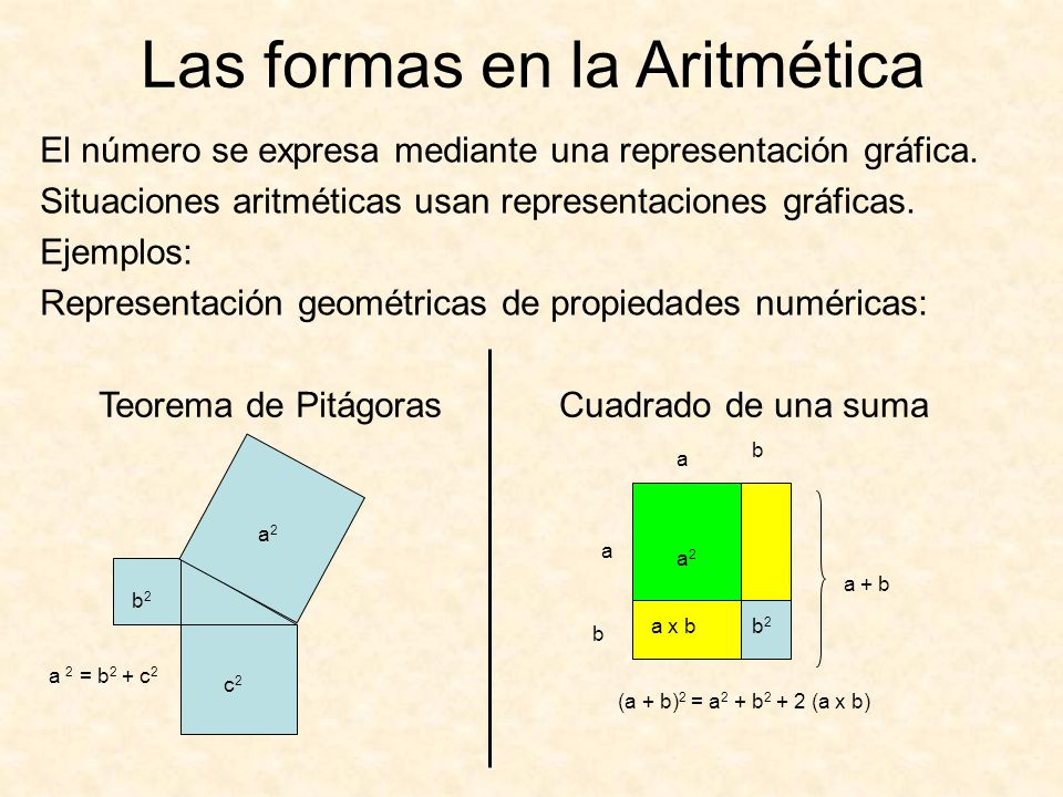 Las formas en la Aritmética
