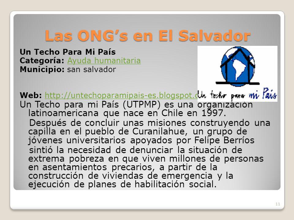 Las ONG's en El Salvador