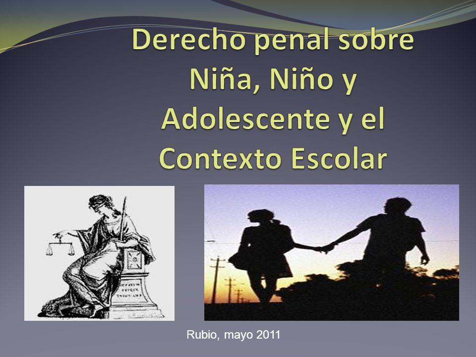 Derecho penal sobre Niña, Niño y Adolescente y el Contexto Escolar
