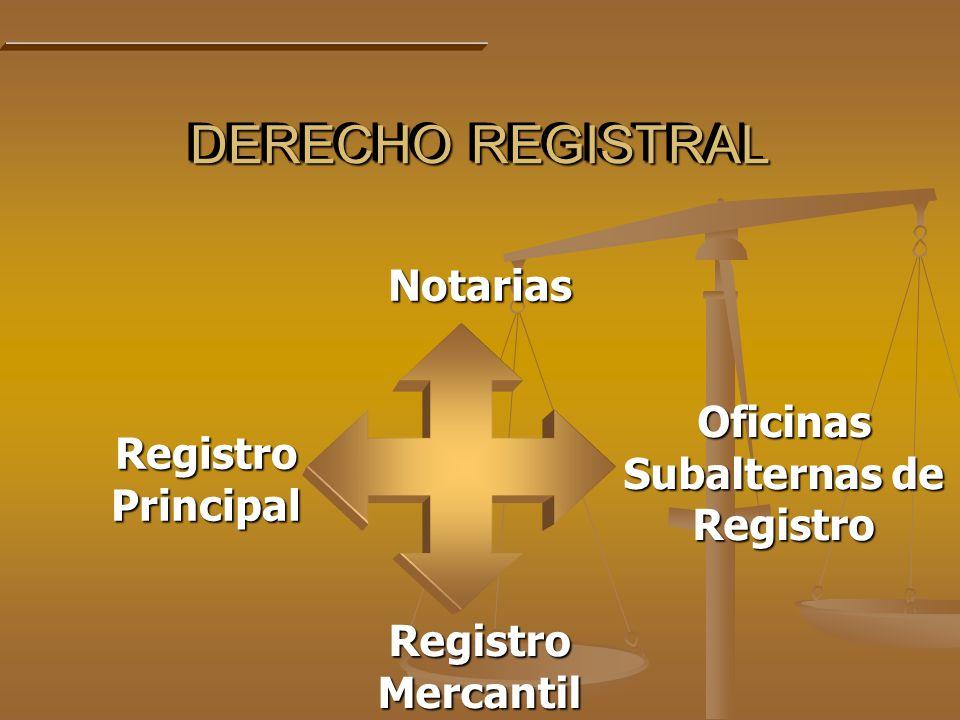 Oficinas Subalternas de Registro