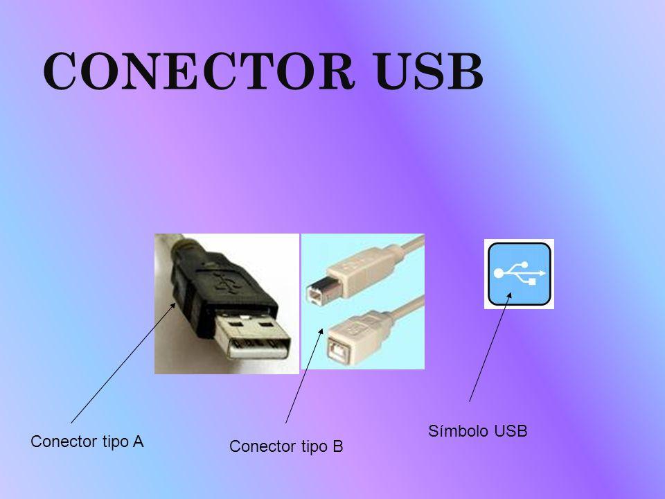 CONECTOR USB Símbolo USB Conector tipo A Conector tipo B