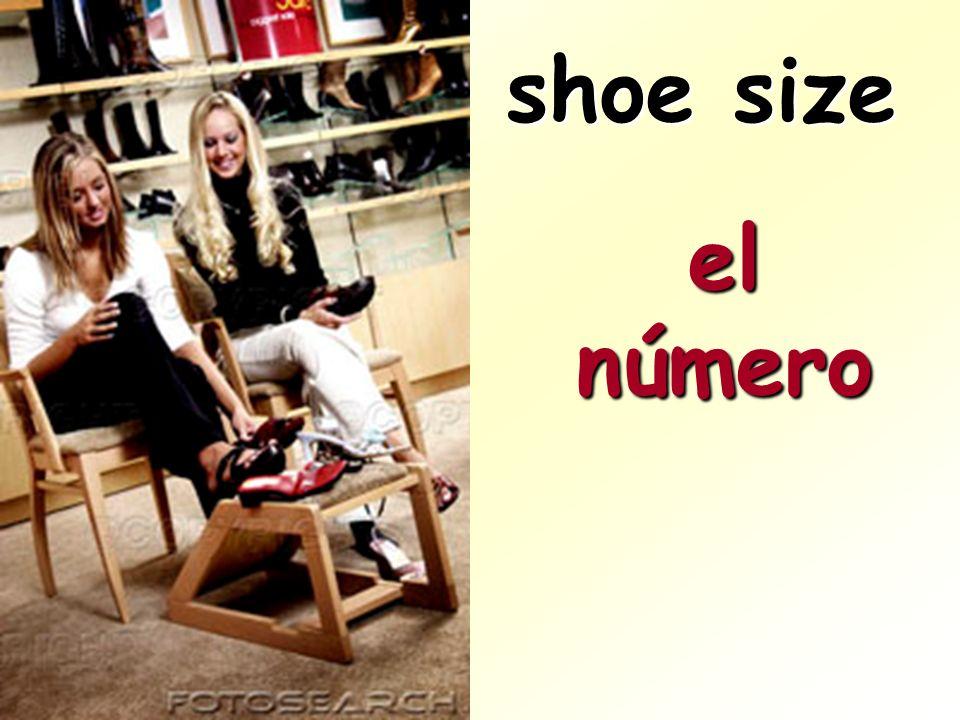 shoe size el número