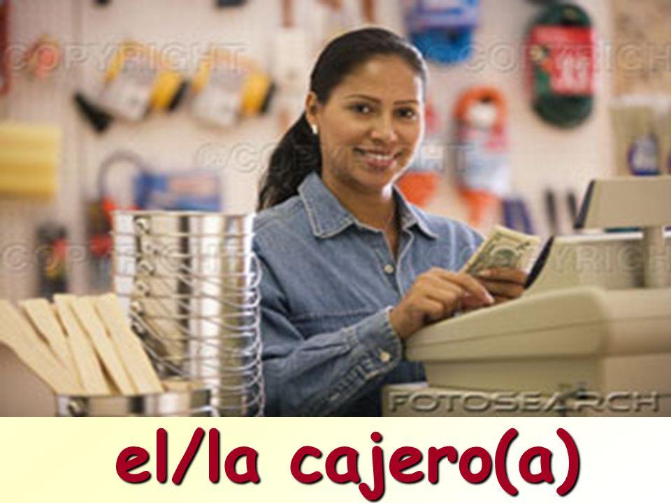 el/la cajero(a)
