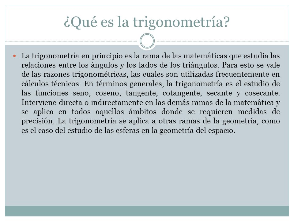 ¿Qué es la trigonometría