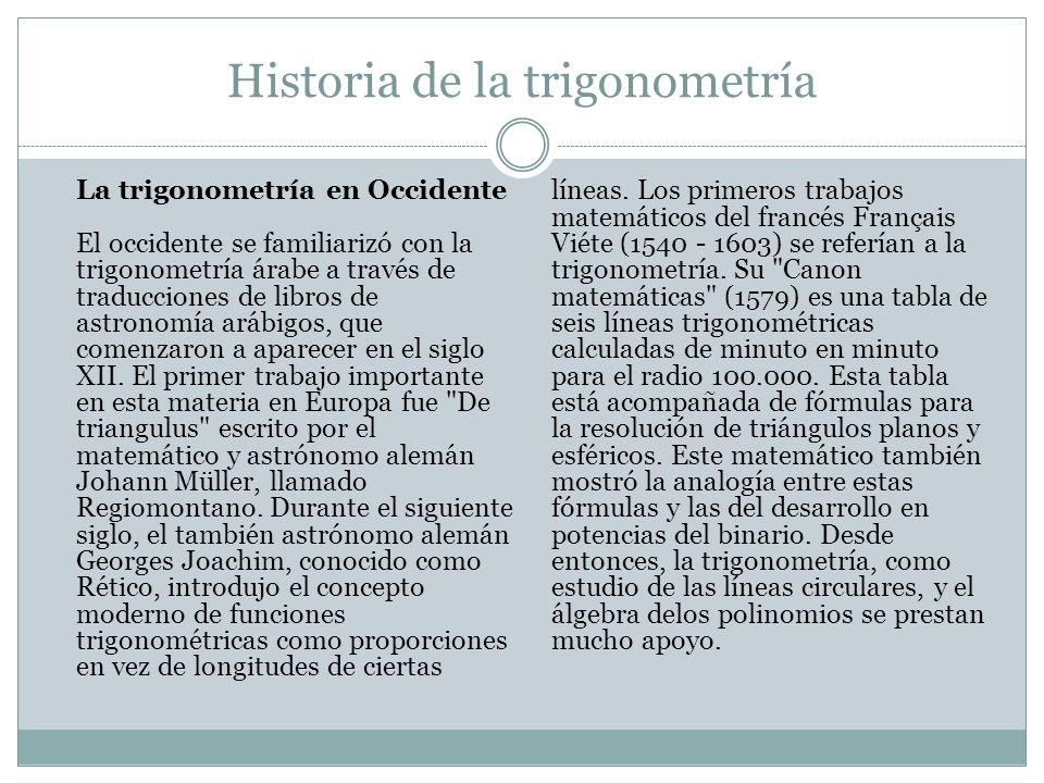 Historia de la trigonometría