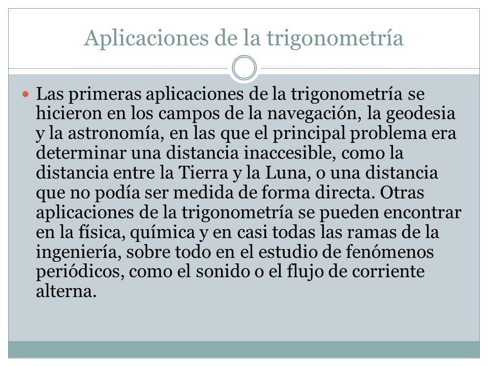 Aplicaciones de la trigonometría