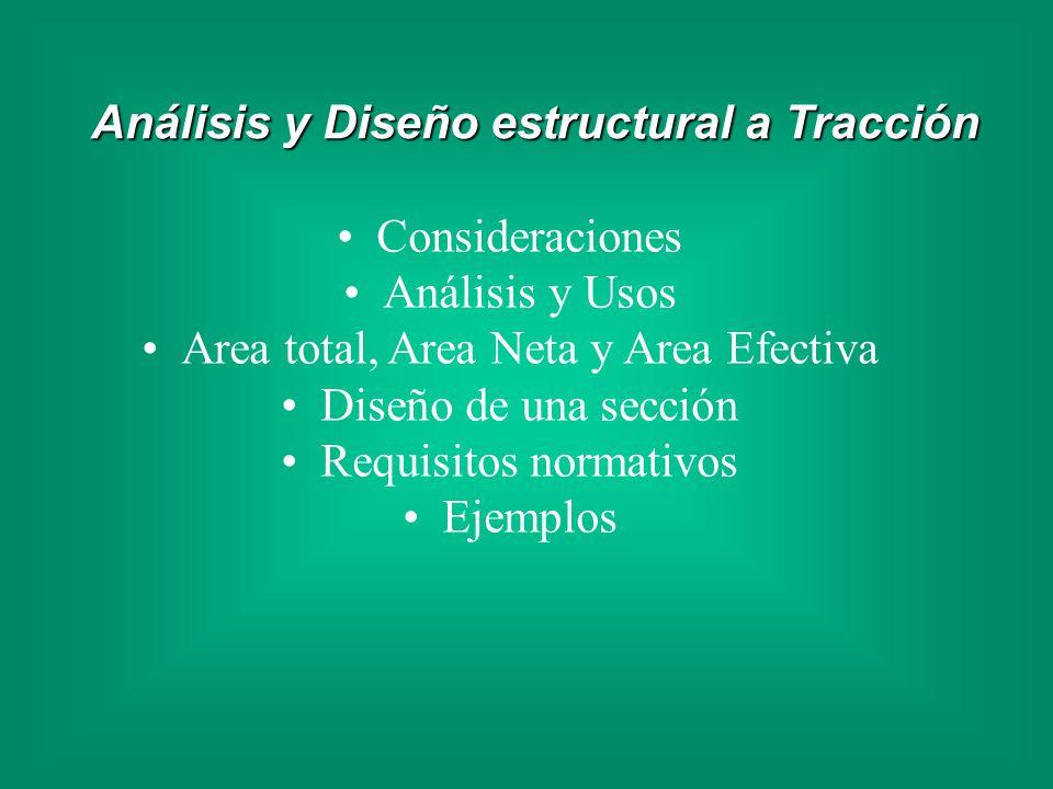 Análisis y Diseño estructural a Tracción