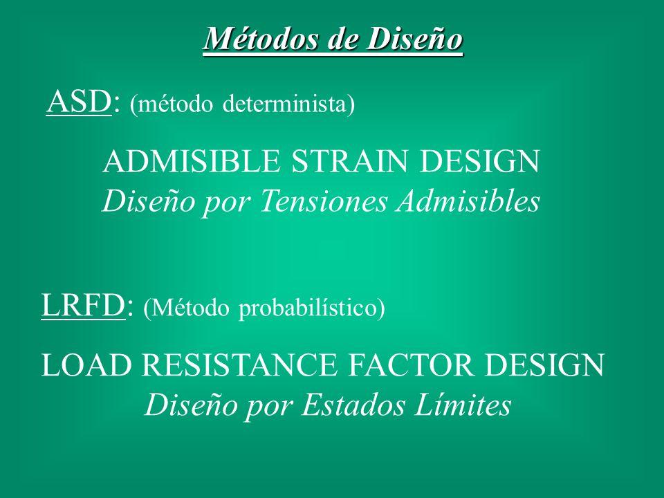 ADMISIBLE STRAIN DESIGN Diseño por Tensiones Admisibles