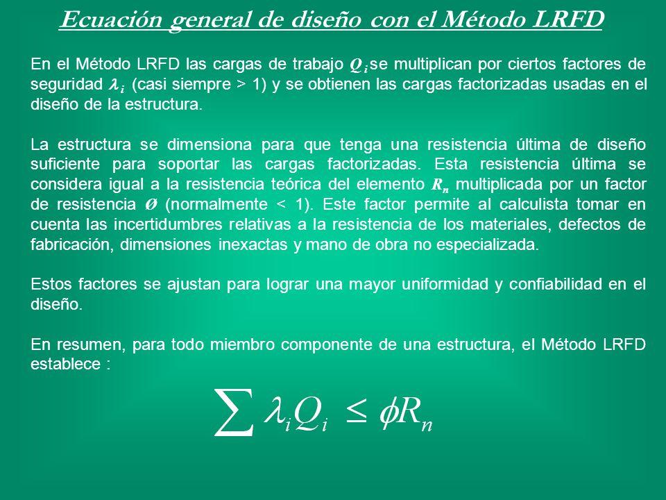 Ecuación general de diseño con el Método LRFD