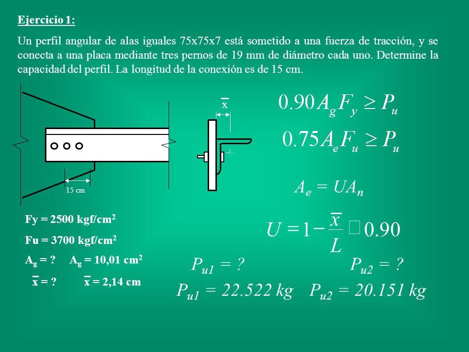 x 90 . 1 £ - = L U Ae = UAn Pu1 = Pu2 = Pu1 = 22.522 kg