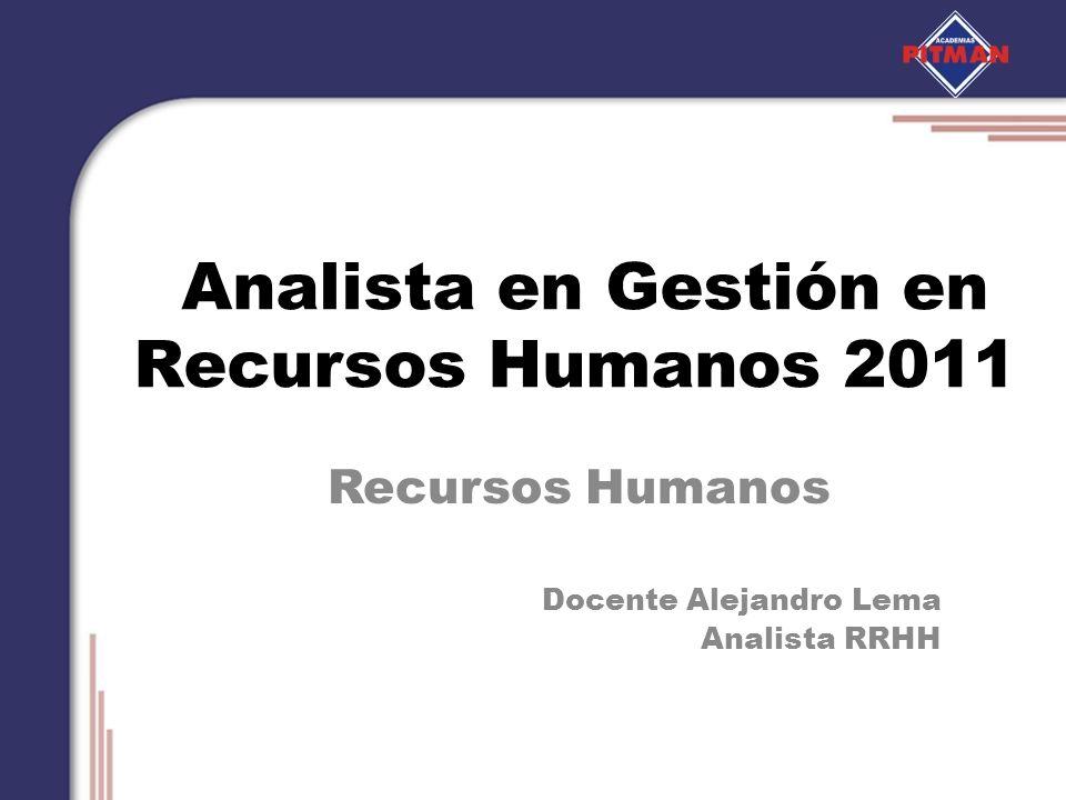 Analista en Gestión en Recursos Humanos 2011