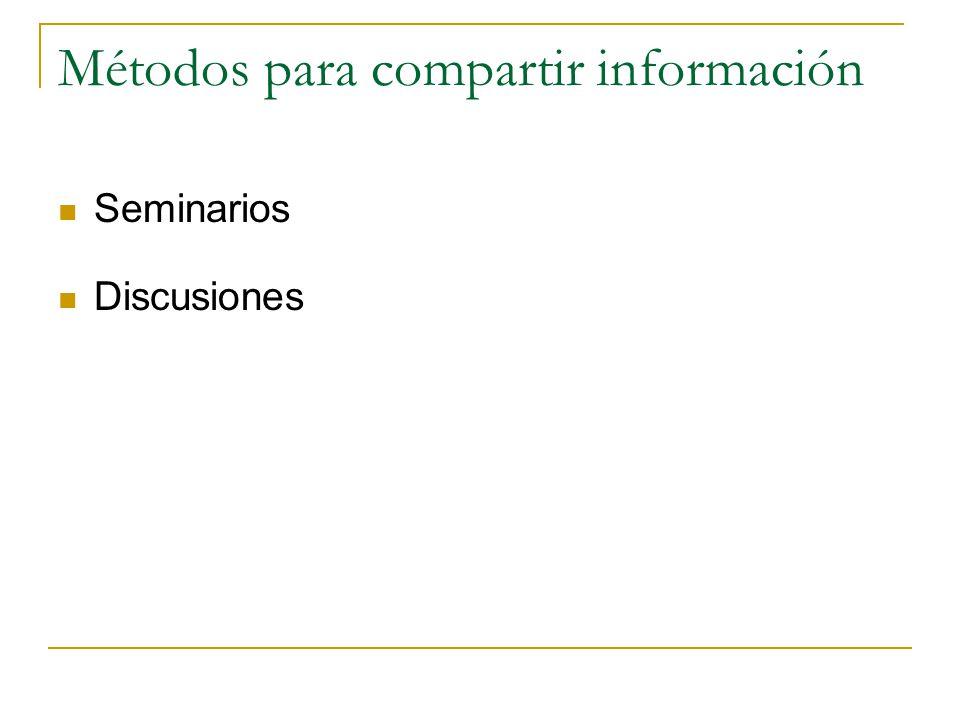 Métodos para compartir información