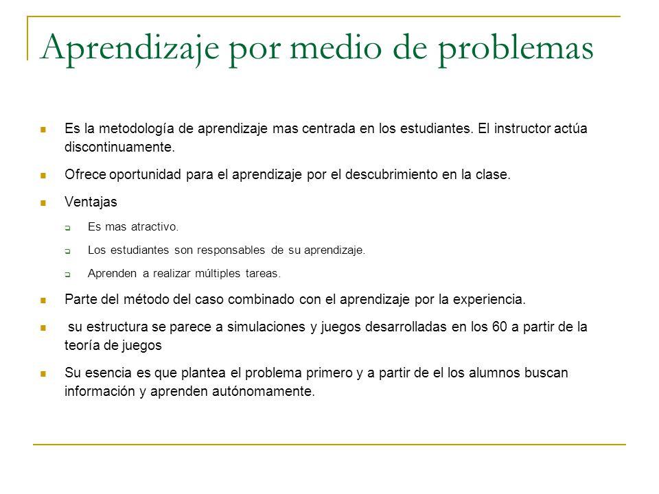 Aprendizaje por medio de problemas