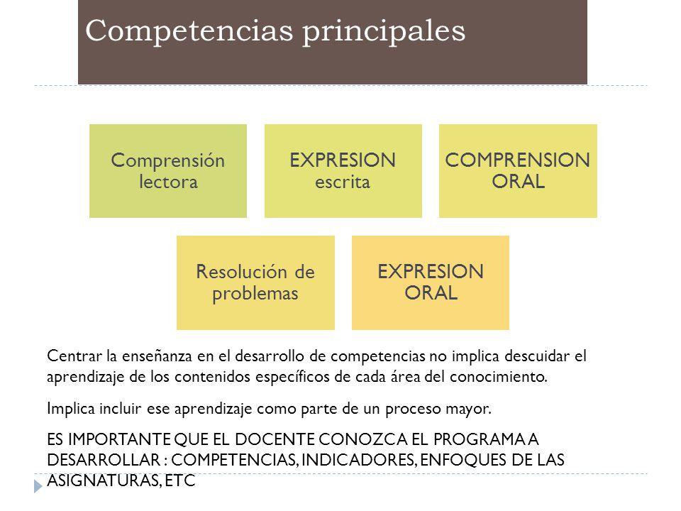 Competencias principales