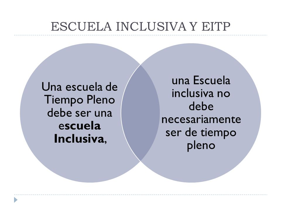 ESCUELA INCLUSIVA Y EITP