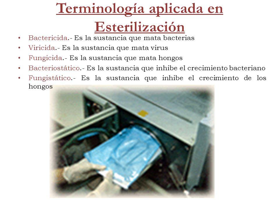 Terminología aplicada en Esterilización