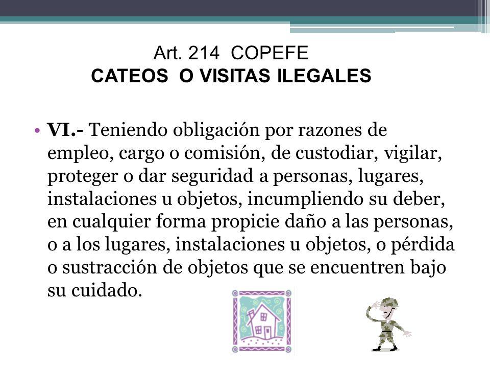 CATEOS O VISITAS ILEGALES