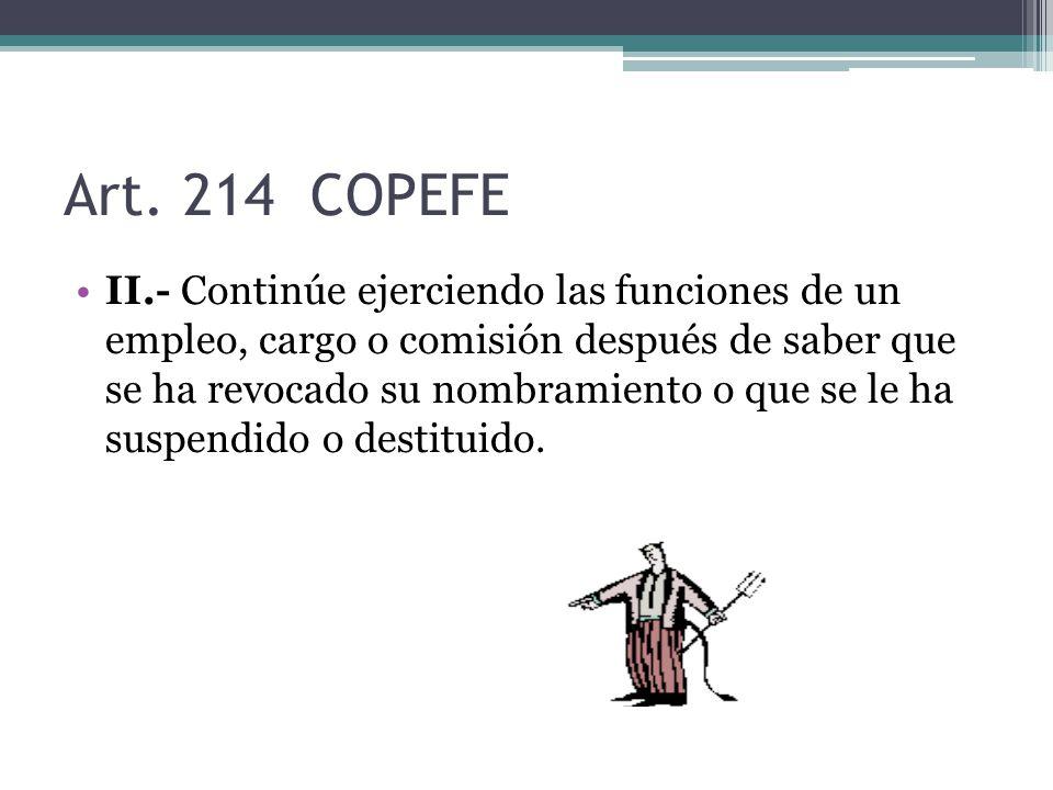 Art. 214 COPEFE