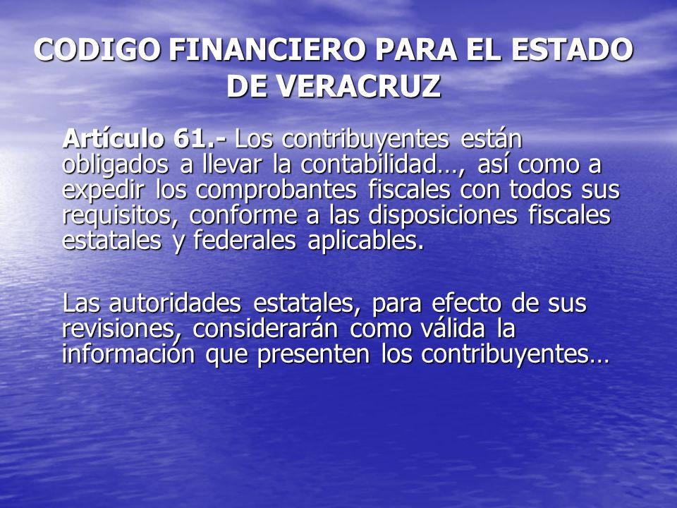 CODIGO FINANCIERO PARA EL ESTADO DE VERACRUZ