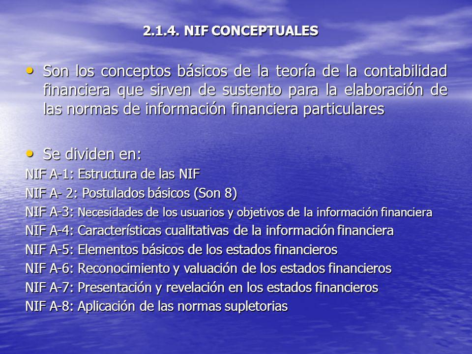 2.1.4. NIF CONCEPTUALES