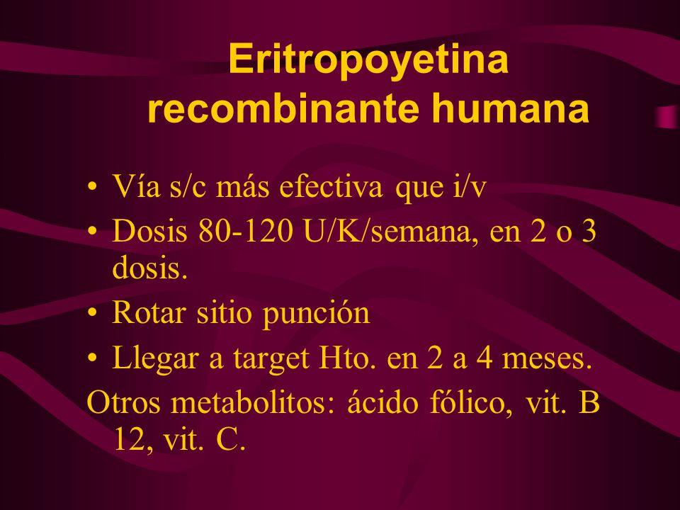 Eritropoyetina recombinante humana
