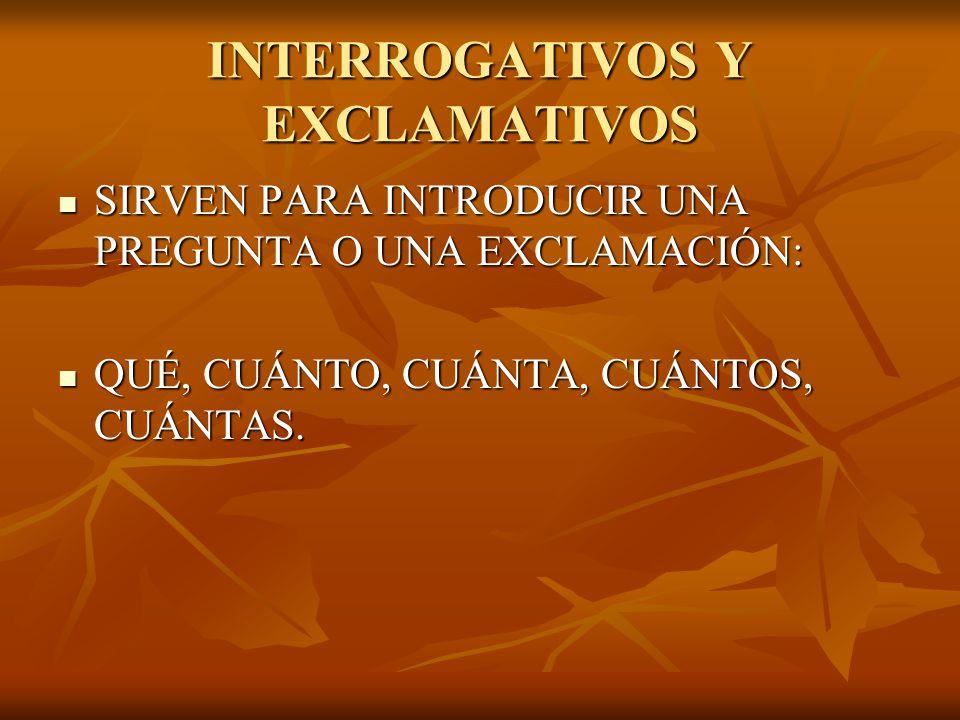 INTERROGATIVOS Y EXCLAMATIVOS