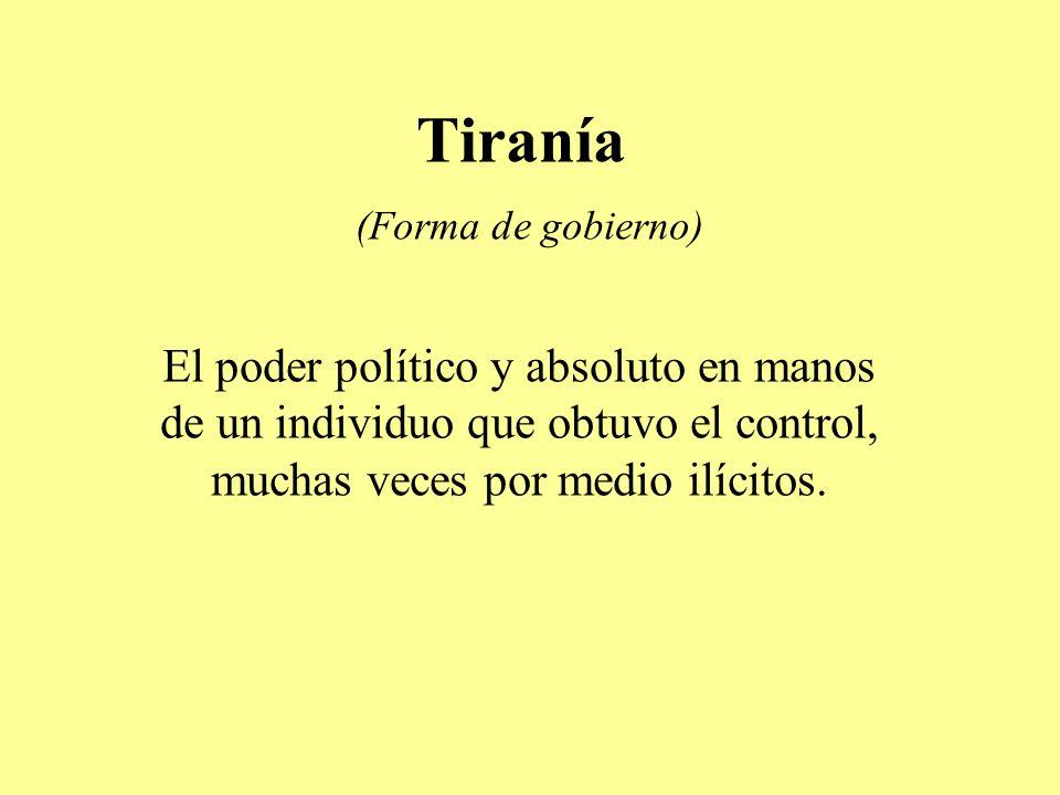 Tiranía (Forma de gobierno)