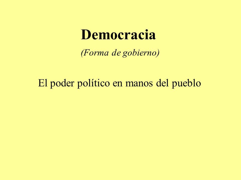 Democracia (Forma de gobierno)