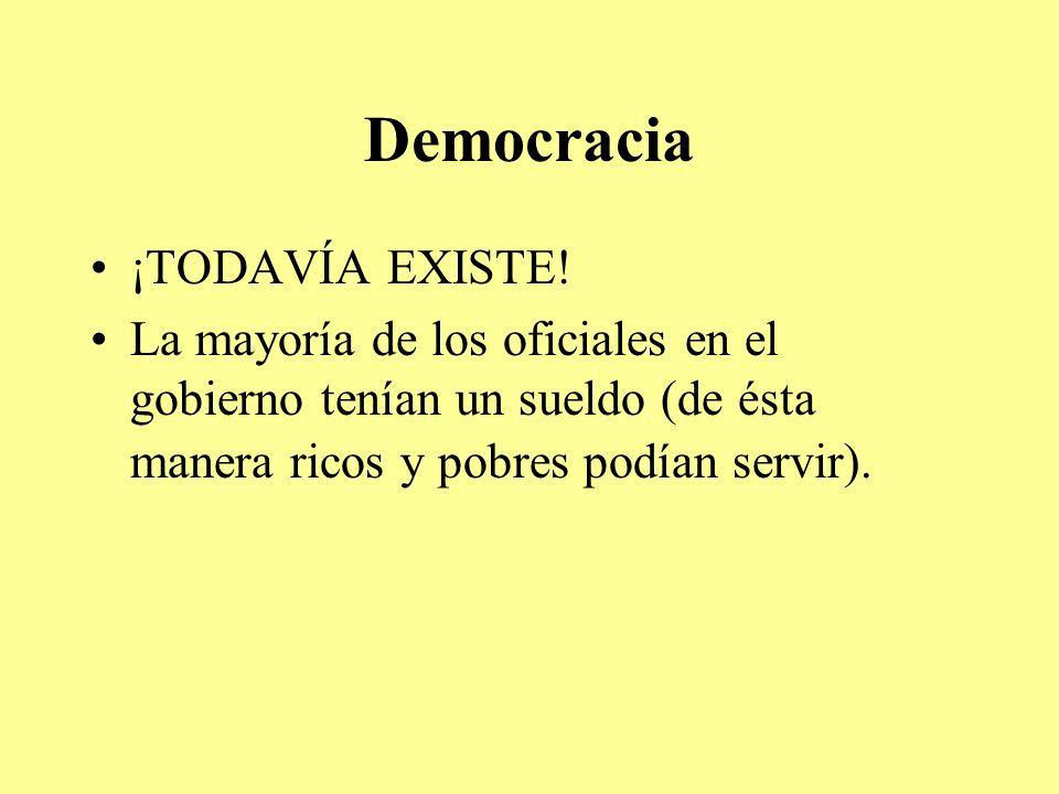 Democracia ¡TODAVÍA EXISTE!
