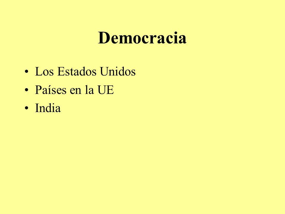 Democracia Los Estados Unidos Países en la UE India