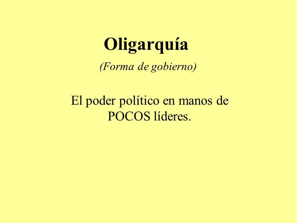 Oligarquía (Forma de gobierno)