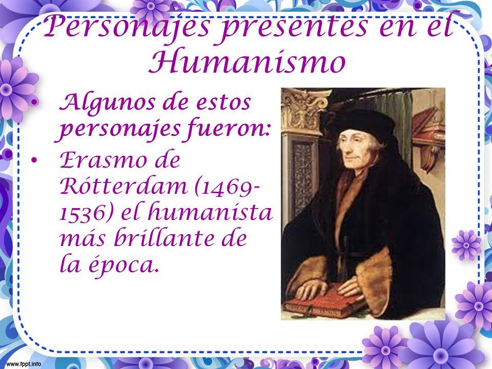 Personajes presentes en el Humanismo