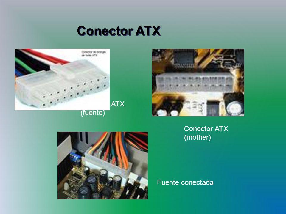 Conector ATX Conector ATX (fuente) Conector ATX (mother)