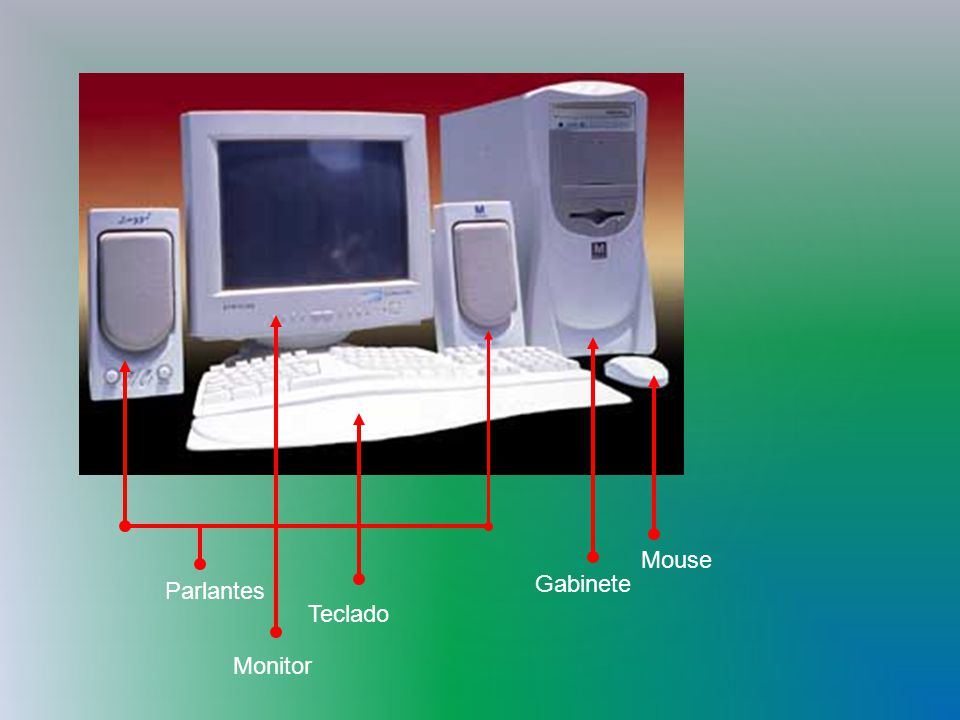 Mouse Gabinete Parlantes Teclado Monitor
